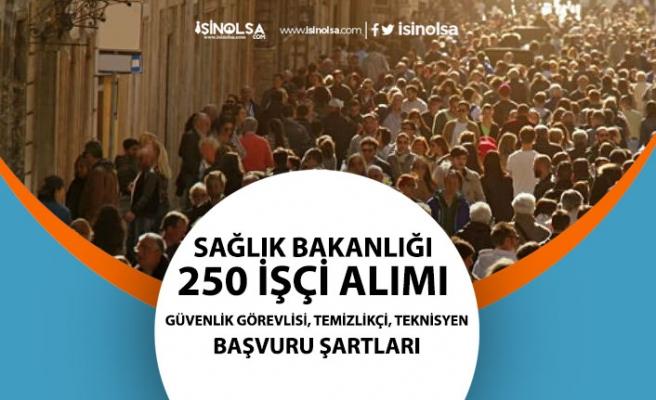Sağlık Bakanlığı, 250 İşçi Alımı! Güvenlikçi, Teknisyen, Temizlikçi Personeli Başvuru Detayları!