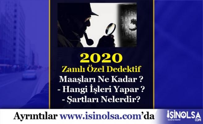 2020 Özel Dedektif Maaşları Ne Kadar?