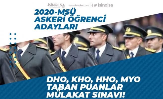 2020 MSÜ Astsubay, Subay Alımı Mülakat Tarihi, Taban Puanlar! KHO, DHO, HHO Fiziki Yeterlilik!