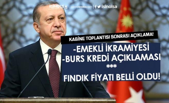 Cumhurbaşkanı Erdoğan'dan Emekli İkramiyesi, Kredi Burs Ödemesi, Fındık Fiyatı Açıklaması!