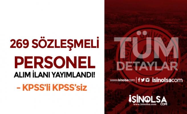 Erciyes Üniversitesi 269 Sözleşmeli Personel Alım İlanı Yayımladı!