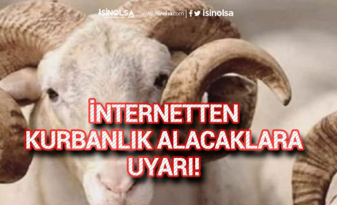 İnternetten Kurbanlık Alacaklara TESK'ten Uyarı!