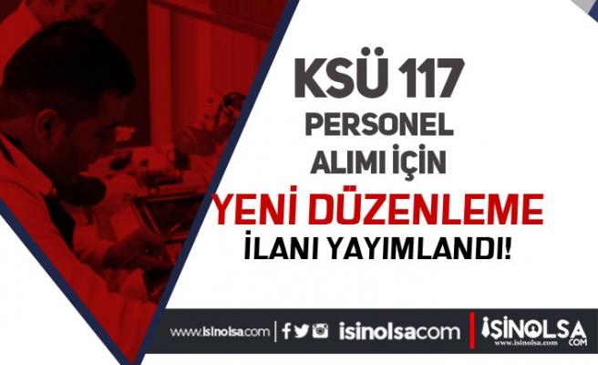 Kahramanmaraş Sütçü İmam Üniversitesi 117 Personel Alımına Düzeltme Geldi