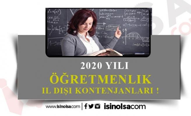 2020 İl Dışı Tayin Kontenjanları