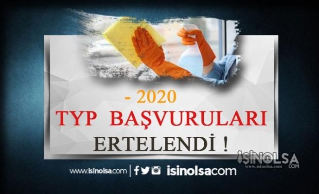 2020 TYP Başvuruları Ertelendi!