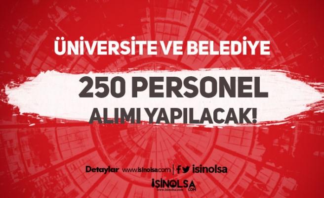 Belediye ve Üniversiteye 255 Personel Alımında Son Gün