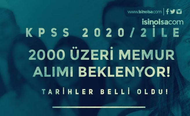 KPSS 2020/2 Merkezi Yerleştirme İle 2000 Üzerinde Memur Alımı Bekleniyor