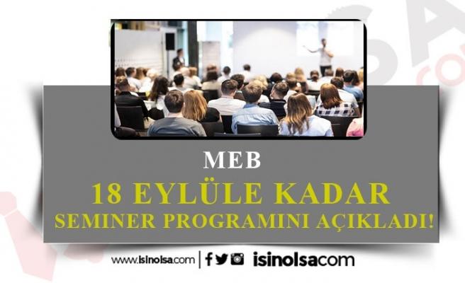 Selçuk Öğretmenlerin 18 Eylül'e Kadar Programını Açıkladı!