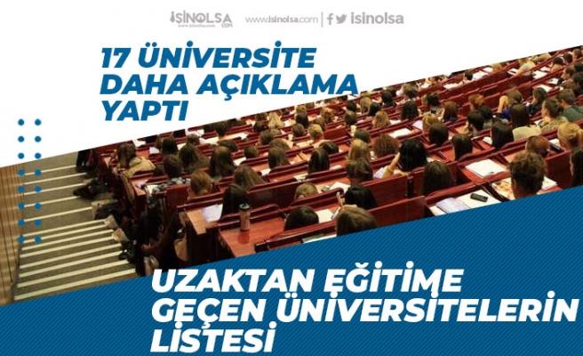 17 Üniversiteden Daha Açıklama! Uzaktan Eğitime Geçen Üniversitelerin Lisesi!