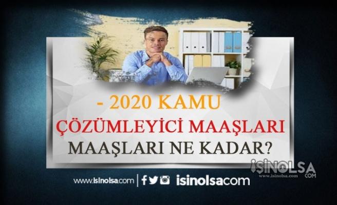 2020 Kamuda Çözümleyici Maaşları