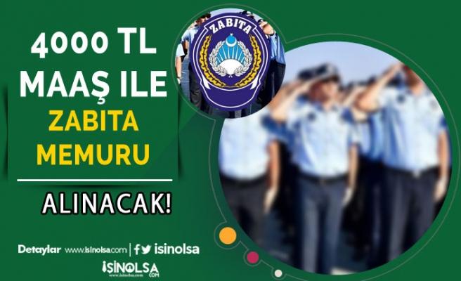4000 TL Maaş İle Belediyeye Zabıta Memuru Alımı Yapacak!
