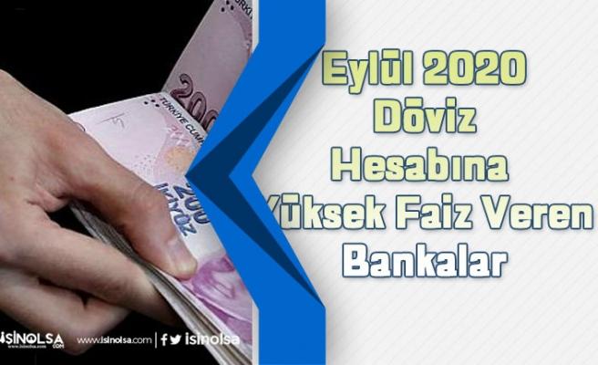 Eylül 2020 Döviz Hesabına En Yüksek Faiz Veren Bankalar Hangileridir?