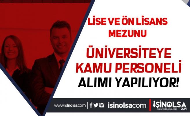 Kayseri Üniversitesi KPSS 50 Puan İle 13 Kamu Personeli Alım İlanı Yayımlandı