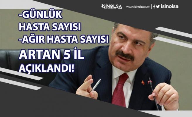 Sağlık Bakanı Koca Günlük Vaka ve Ağır Hasta Sayısı Artan 5 il Açıklaması!