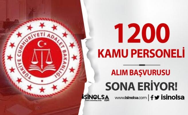 Adalet Bakanlığı 1200 Kamu Personeli Alımı Başvurusu Sona Eriyor