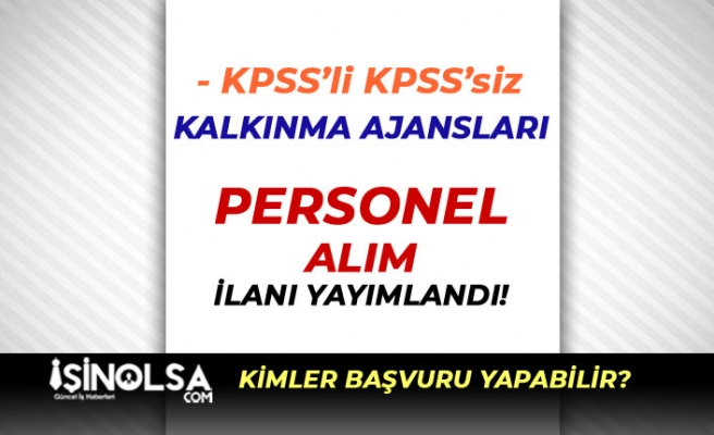 Ahiler Kalkınma Ajansı ve KUZKA KPSS'li KPSS Siz 10 Personel Alacak
