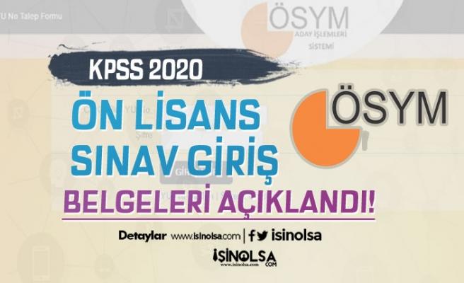 ÖSYM 2020 KPSS Ön Lisans Sınav Giriş Belgelerini Yayımladı!