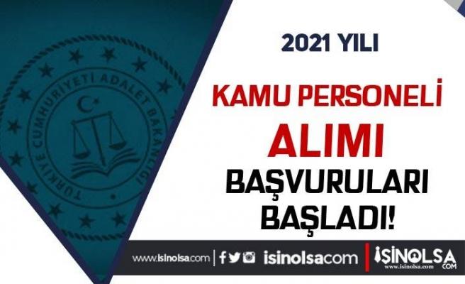 Adalet Bakanlığı 70 KPSS Puanı İle Kamu Personeli Alımı Başladı!