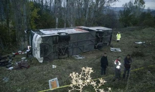 İstanbul'a Giden Otobüs Çorum'da Devrildi! 1 Ölü, 42 Yaralı 10'u Ağır