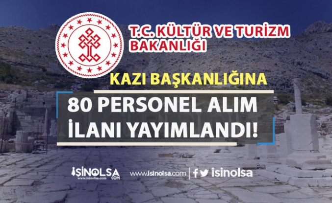 Kültür Bakanlığı Burdur Sagalassos Kazı Başkanlığı 80 Personel Alımı!