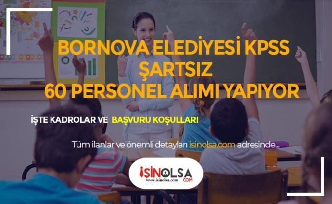 İzmir Bornova Belediyesi KPSS Şartsız 60 Öğretmen, Antrenör Alıyor