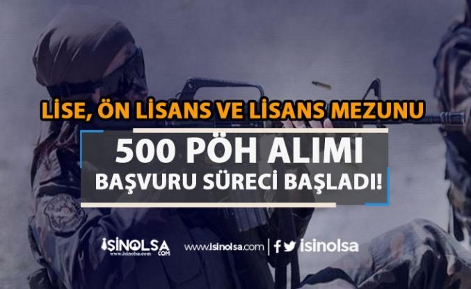 Lise, Ön Lisans ve Lisans Mezunu 500 Kadın PÖH Alımı Başvuru Ekranı Açıldı!