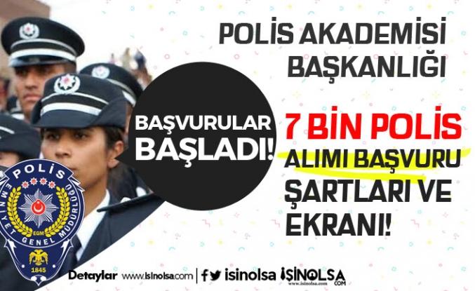 EGM PA 26. Dönem POMEM 7 Bin Polis Alımı Başvuru Ekranı Açıldı!