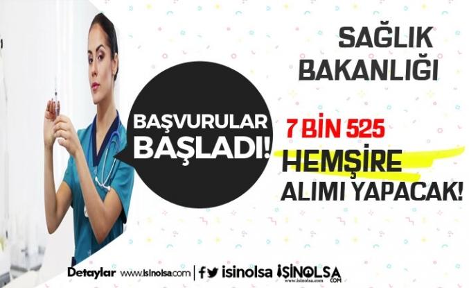 Sağlık Bakanlığı 7 Bin Hemşire Alacak! Başvuru Şartları Neler?