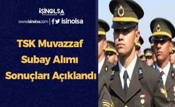 TSK Muvazzaf Subay Alımı Sonuçları Açıklandı