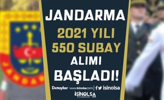 Jandarma 2021 Yılı 550 Sözleşmeli/Muvazzaf Subay Alımı Başladı!