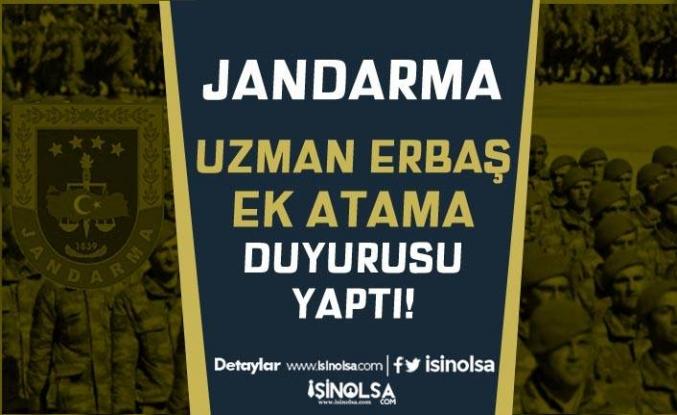 Jandarma Uzman Erbaş Ek Atama Duyurusu Yaptı! 4. Grup Çağrısı Ne Zaman?