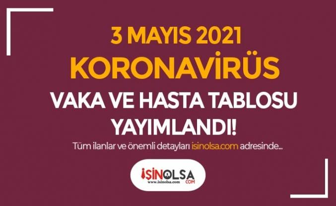 3 Mayıs Koronavirüs Vaka ve Hasta Tablosu Yayımlandı!