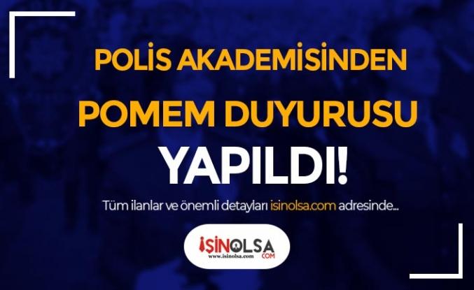 Polis Akademisinden POMEM Duyurusu Geldi! 19/1-4.Dönem POMEM
