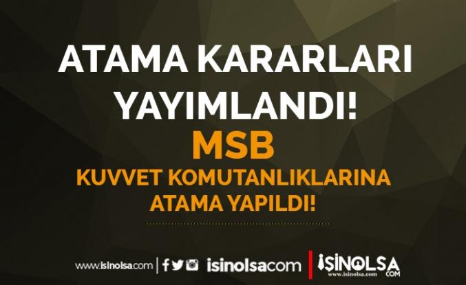 25 Ağustos Atama Kararları: MSB KKK, HVV ve DKK Atamalar Yapıldı