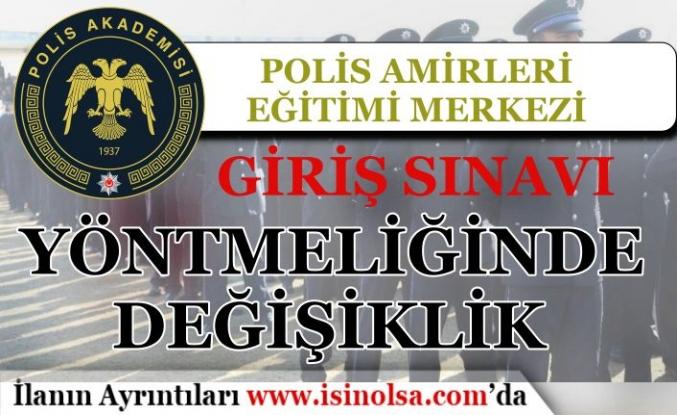 Polis Akademisi PAEM Giriş Sınavı Yönetmeliğinde Değişiklik Resmi Gazetede