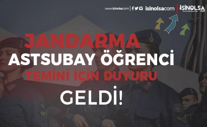 Jandarma JSGA Astsubay Alımı için Öğrenci Temini Sonuç Duyurusu Geldi!