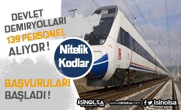 Devlet Demiryolları 139 Kamu Personeli Alıyor!