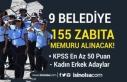 KPSS En Az 50 ve 60 Puan İle 9 Belediye 155 Zabıta...
