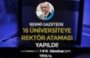 14 Ağustos Resmi Gazete Kararı: 16 Üniversiteye...