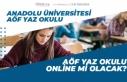 Anadolu Üniversitesi AÖF Yaz Okulu Online mi Olacak!...
