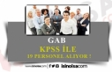 GAB 19 KPSS ile Uzman Yardımcısı, Memur ve Şoför...