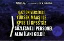 Gazi Üniversitesi Yüksek Maaş İle 9 Sözleşmeli...
