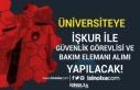 İŞKUR İle Üniversiteye Güvenlik Görevlisi ve...