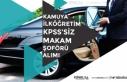 Kamuya KPSS'siz Makam Şoförü Alımı ile 1...