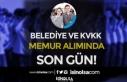 Karatay Belediyesi ve KVKK Memur Alımı Son Gün!...