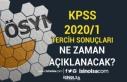 KPSS 2020/1 Tercih Sonuçları Ne Zaman Açıklanacak?...
