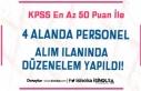 KPSS 50 Puan İle Üniversiteye Personel Alımında...