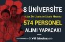 Lise, Ön Lisans ve Lisans Mezunu 574 Üniversite...
