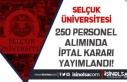 Selçuk Üniversitesi Personel Alımında İptal Kararı...