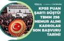 TBMM Memur Alımı KPSS Puanı Şartı Düştü! 298...